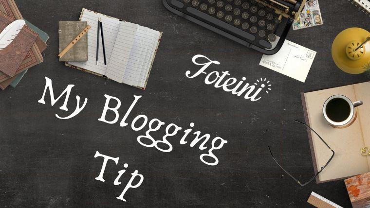 Blogging: Το αγαπημένο μου Trick