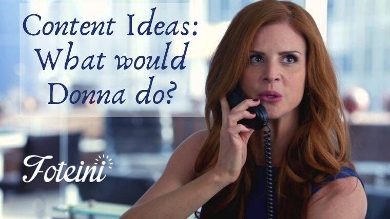 Donna, δεν έχω τι να γράψω. Τι μου προτείνεις;